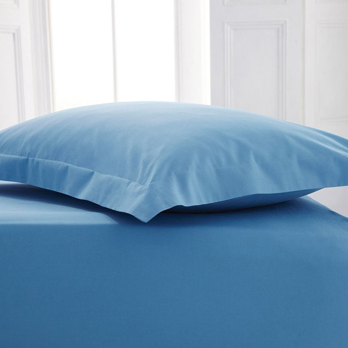 Genial 4 Foot Small Double Poly Cotton Fitted Bed Sheets Bed Linen Mid Blue. About  This Product. Picture 1 Of 2; Picture 2 Of 2