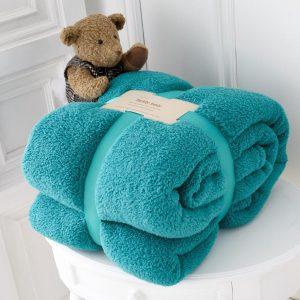 Teddy Bear Throw Teal
