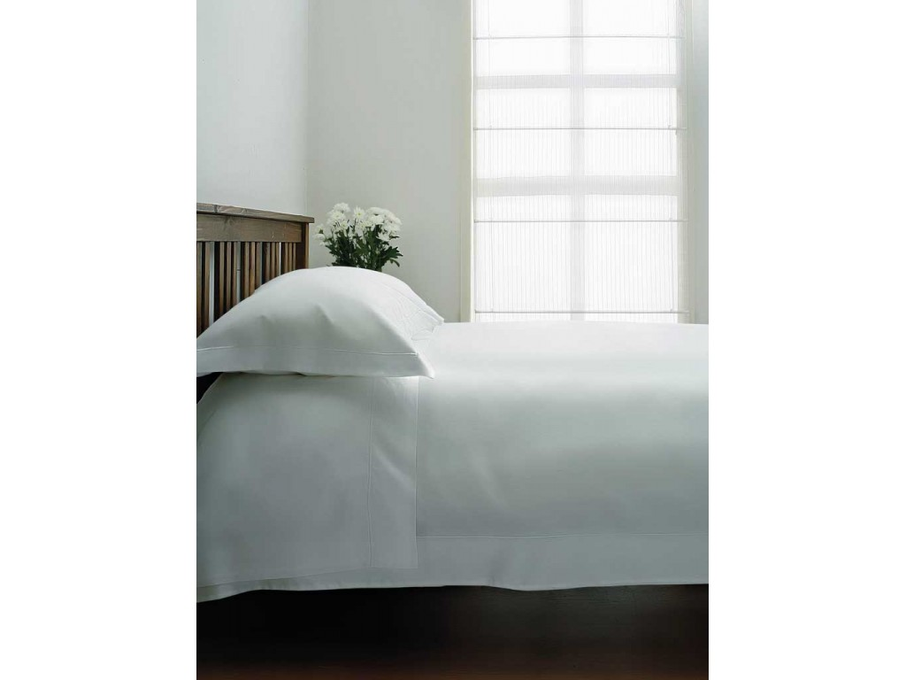 Housewife Pillowcase Bundle Set Belledorm Cotton Sateen 15 Fitted Sheet Flat Sheet White, Double 600 Thread Count