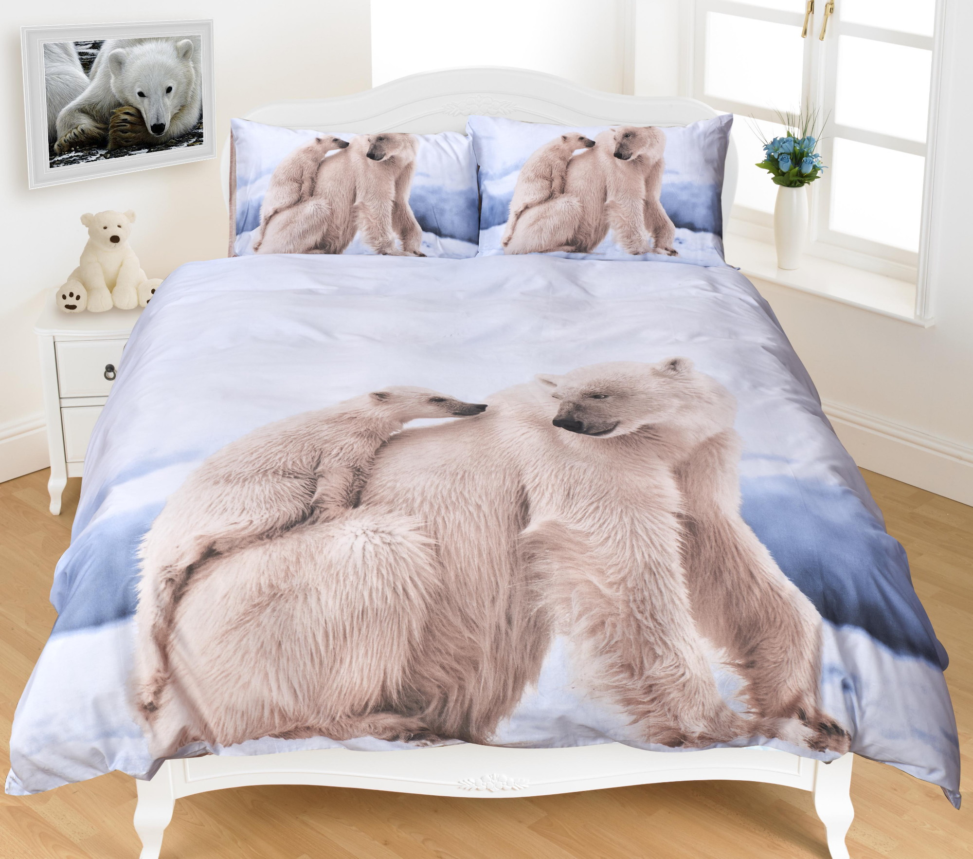Polar Bear 3D Effect Duvet Cover Bedding Set | eBay