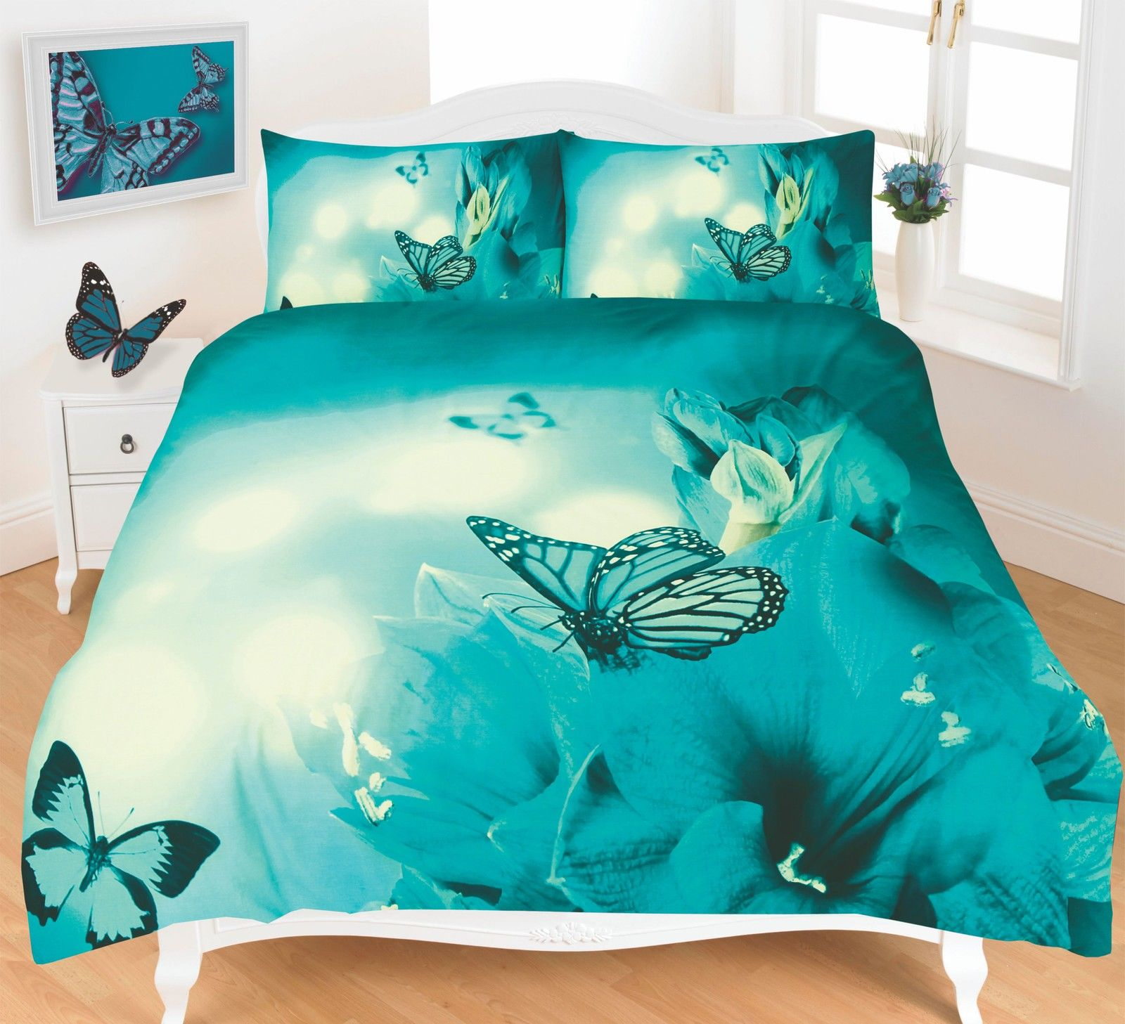 Butterfly 3d Effect Duvet Cover Bedding Set Ebay