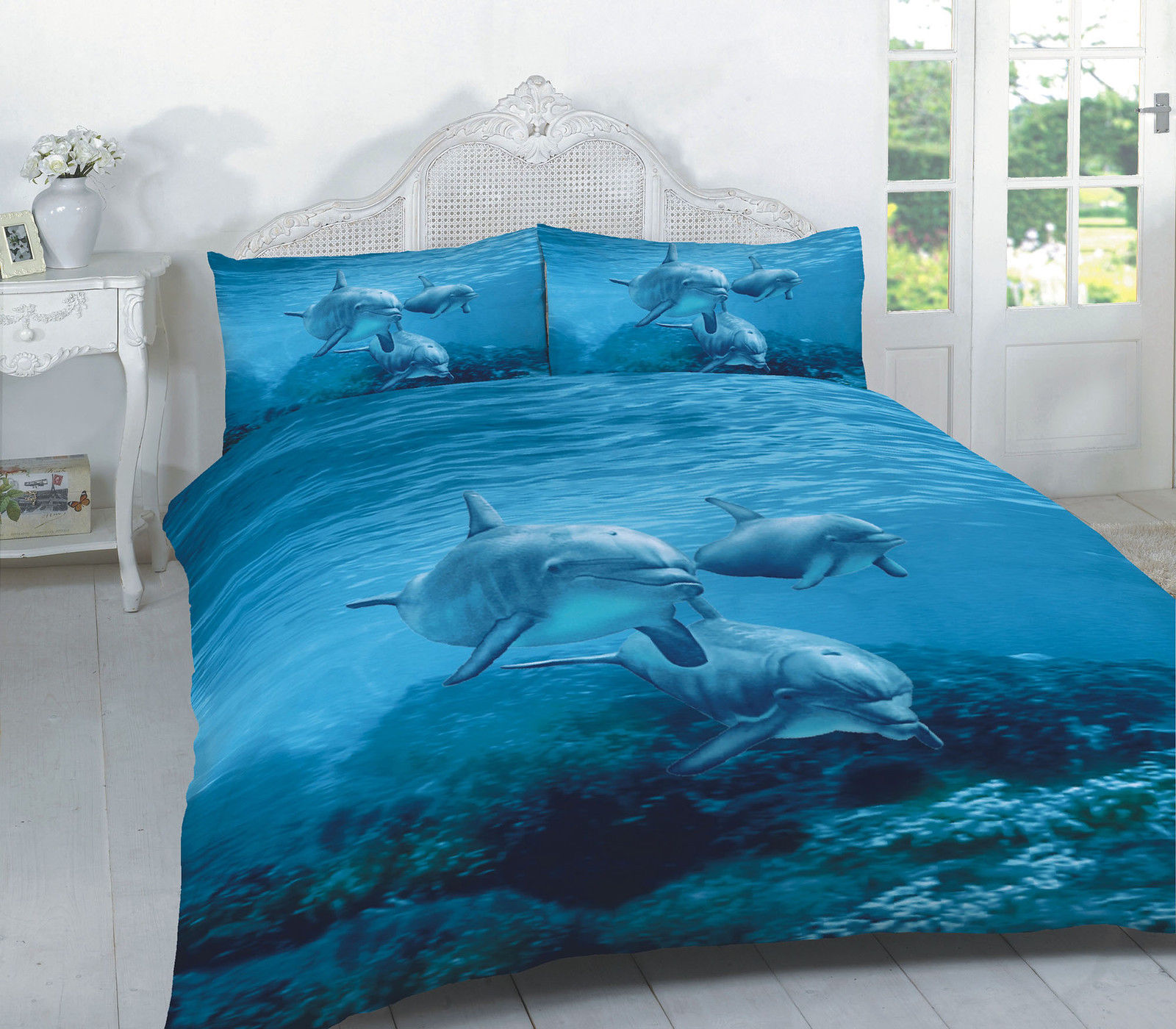 Animal Dolphin Multi 3d Effect Duvet Cover Bedding Set