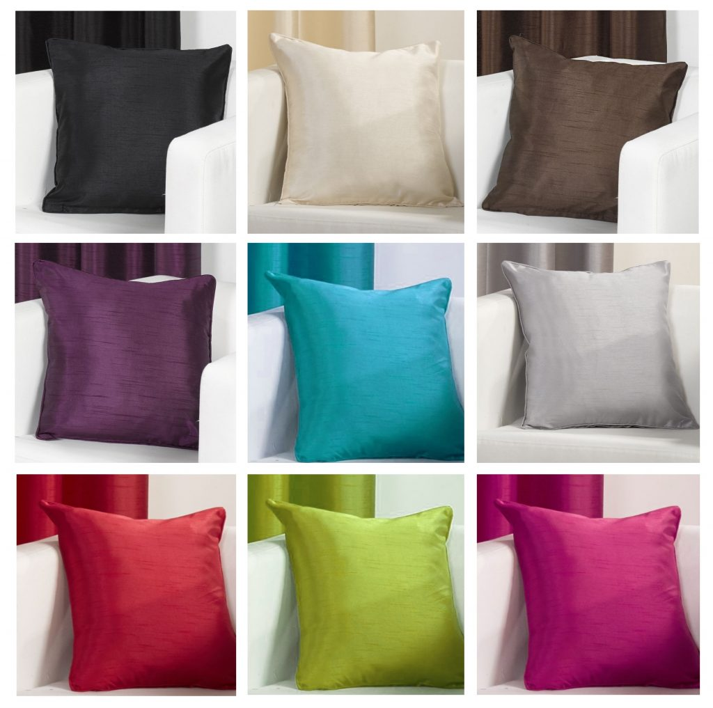 Faux Silk Slubbed Cushion Covers 17 X 17 Inch Linenstar