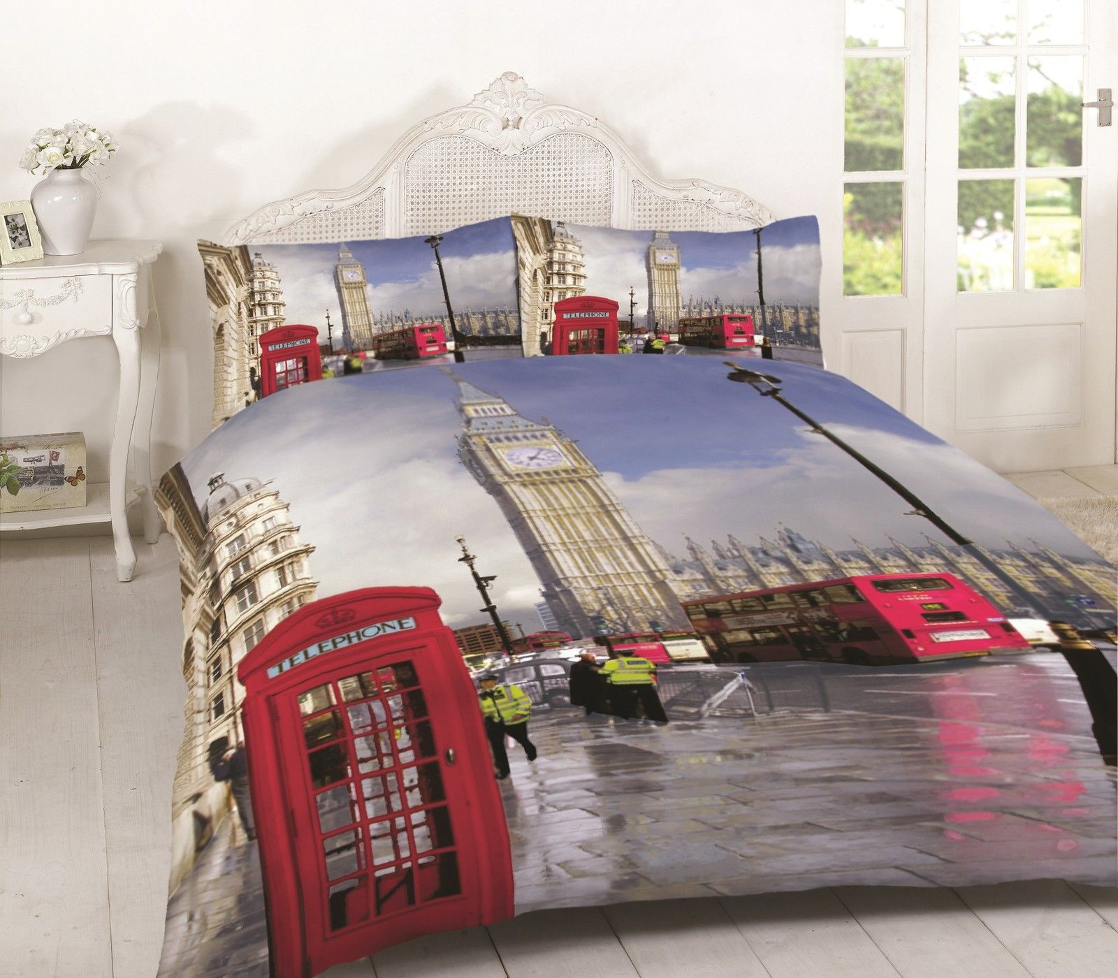 London Bridge Quilt Doona Duvet Cover Set Bedding UK British Travel City Britain
