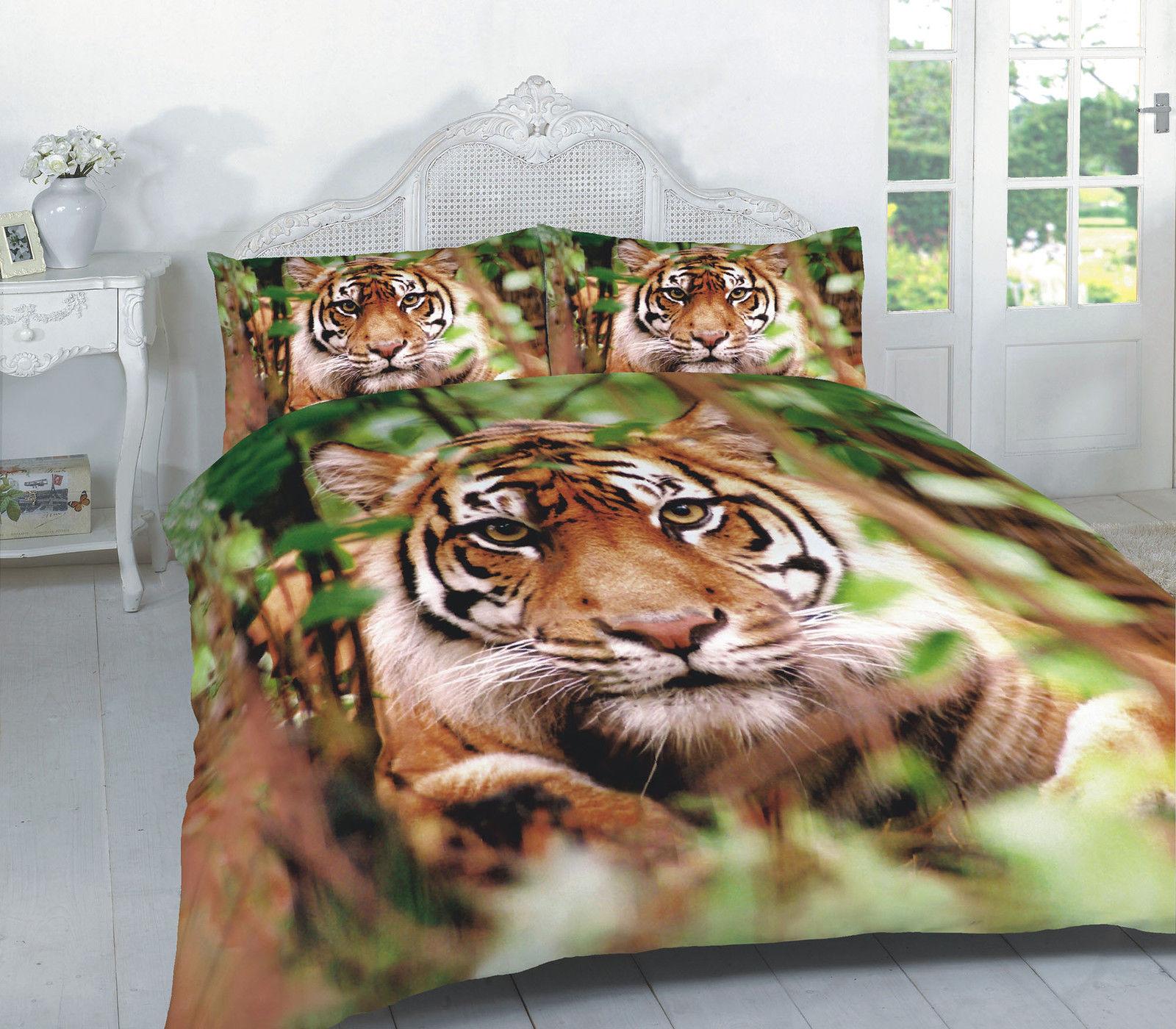 Animal Tiger Effect Duvet Cover Bedding Set