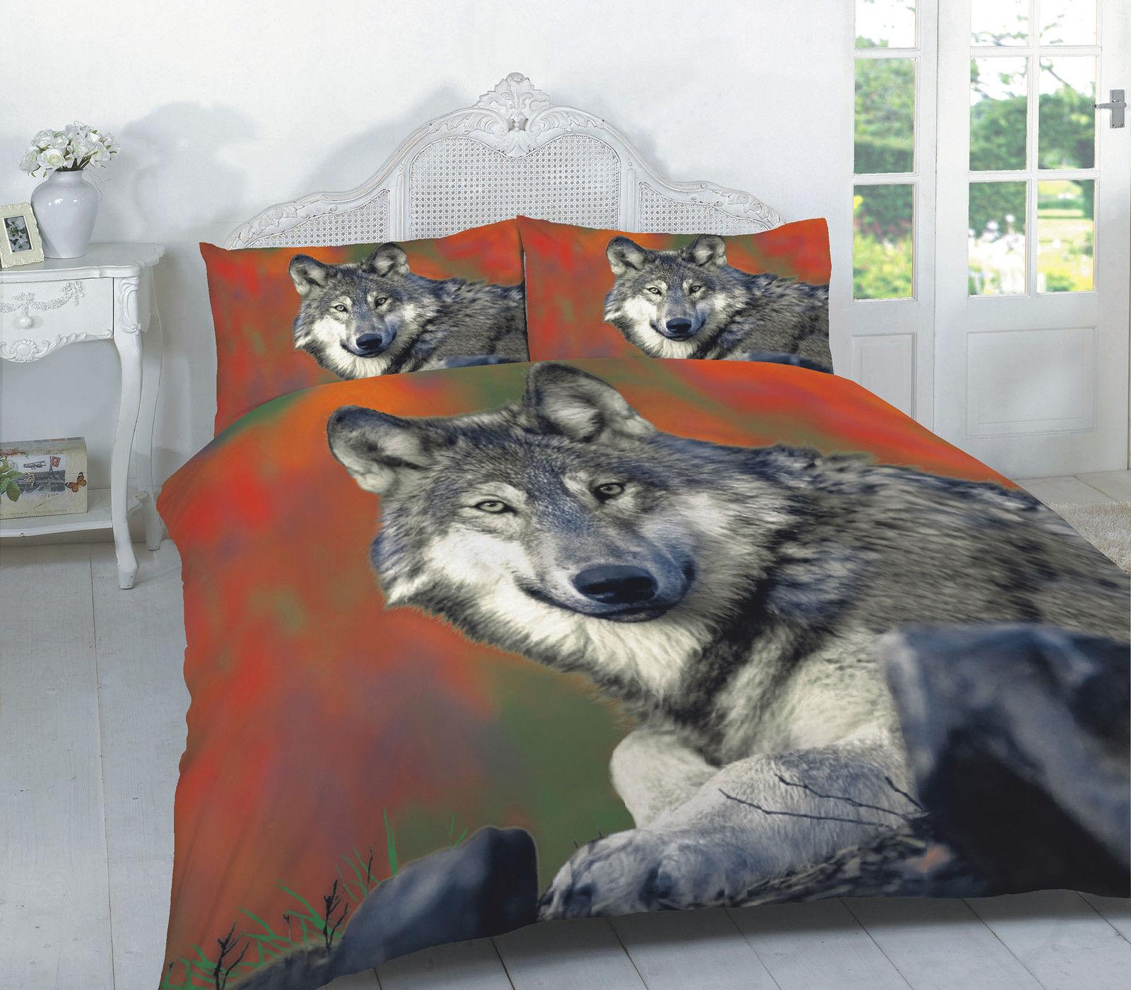 Animal Wolf 3d Effect Duvet Cover Bedding Seting Set