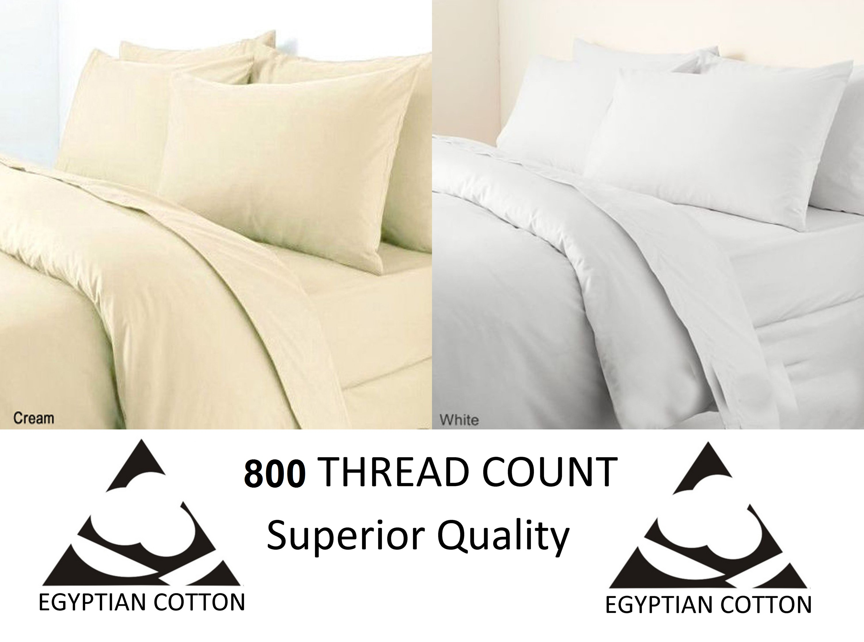 Egyptian Cotton 800 Thread Flat Bed Sheet Bed Linen
