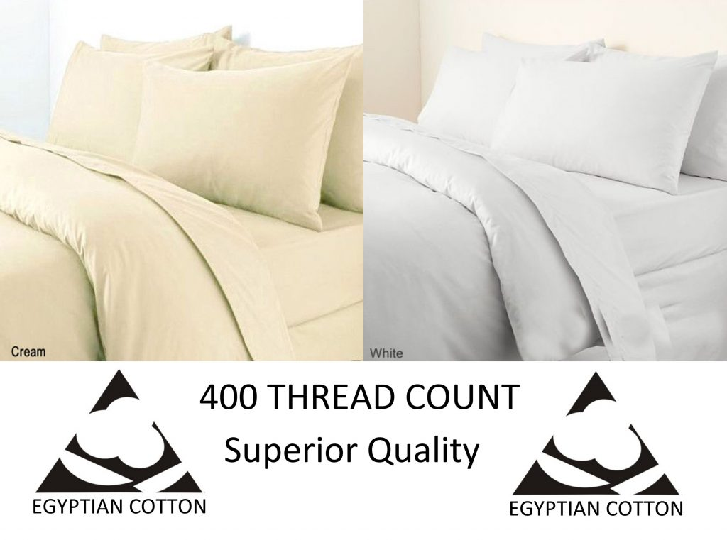 Egyptian Cotton 400 Thread Count Duvet Cover Bedding Set