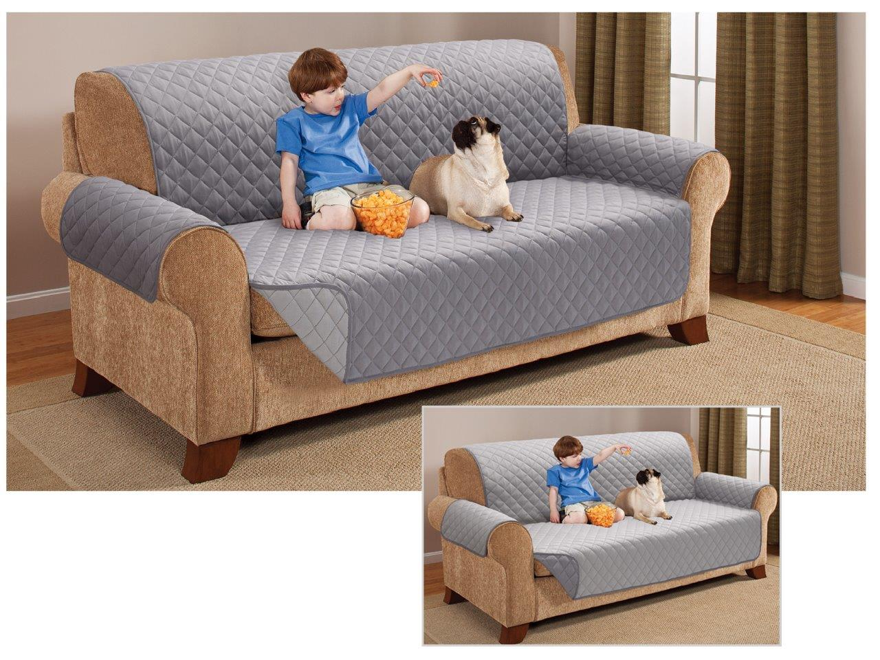 Quilted Sofa Setter Protector Reversible Throw Cover Furniture
