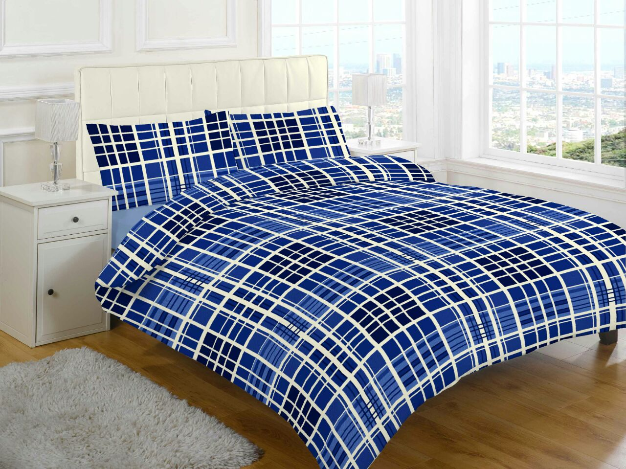evan check brushed cotton flannelette thermal duvet cover. Black Bedroom Furniture Sets. Home Design Ideas