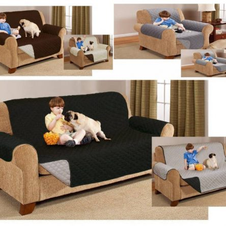 Quilted Sofa Setter Protector Reversible Throw Cover Furniture Protector Cover Water Resistant