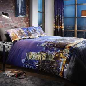 Goldstar NY night life duvet set