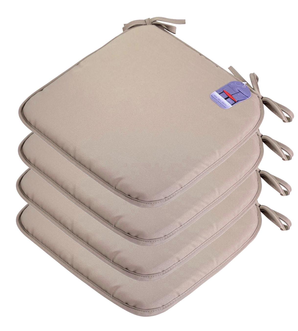 4 x Plain Seat Pad Tie Chair Foam Cushion For fice Dining Garden Patio 3