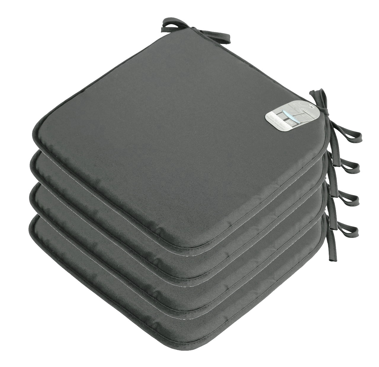 4 x Plain Seat Pad Tie On Chair Foam Cushion For Office  : seat pad Charcoal from www.ebay.co.uk size 1280 x 1240 jpeg 213kB