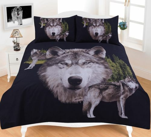 Animal Wolves 3d Effect Duvet Cover Bedding Set Ebay