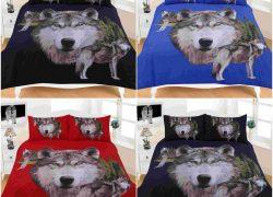 Animal Wolves 3D Effecr Duvet Cover Bedding Set