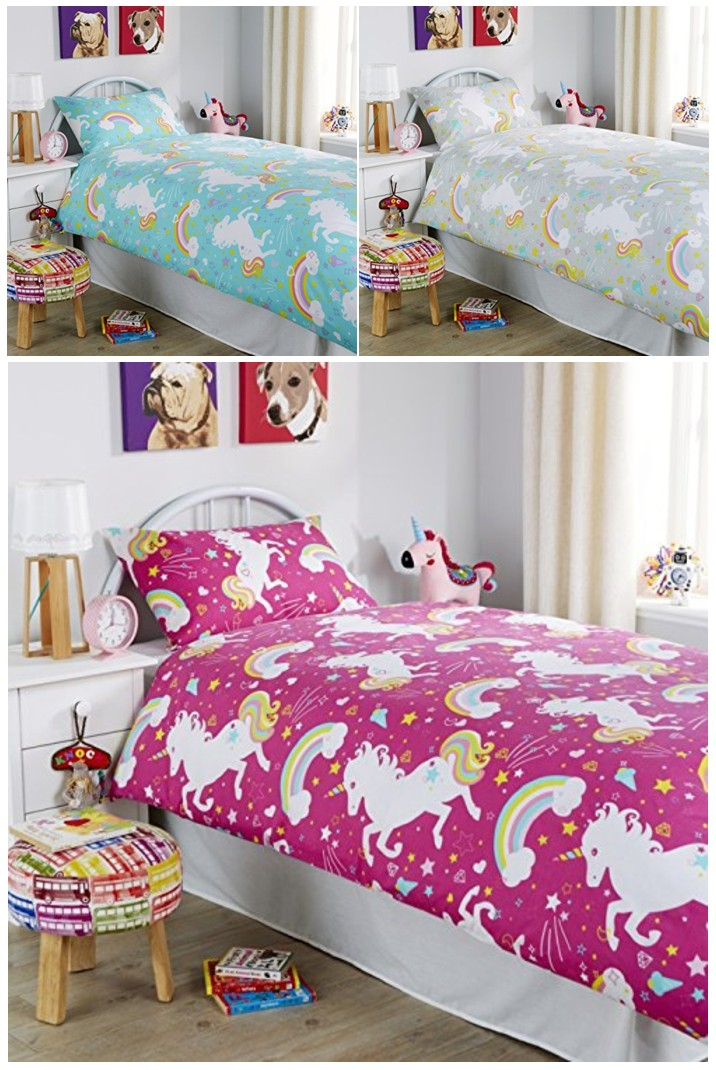 Unicorn Bedroom Set: Unicorn Duvet Quilt Cover Horse Animal Children Printed
