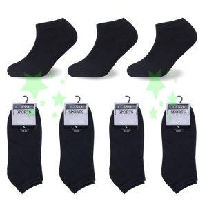 Linenstar ankle-black socks