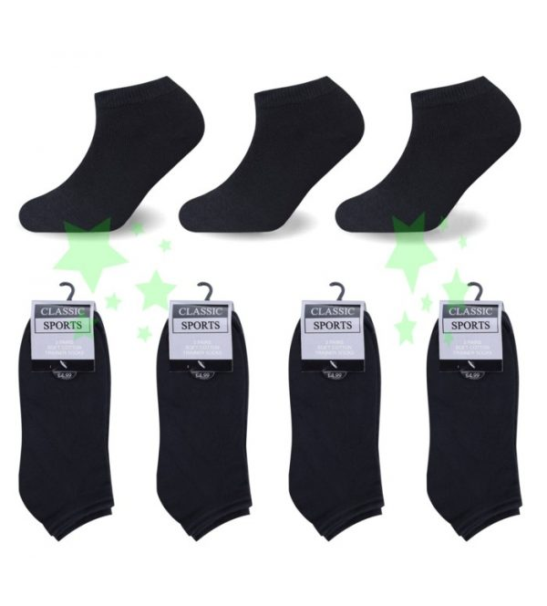 Linenstar ankle-black socks