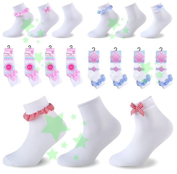 linenstar girls-lace-bow-multi