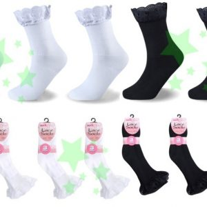 linenstar girls-lace-socks-multi