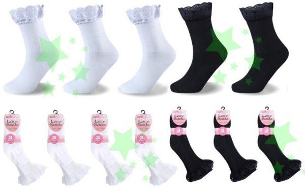 linenstar girls-lace-socks-multi
