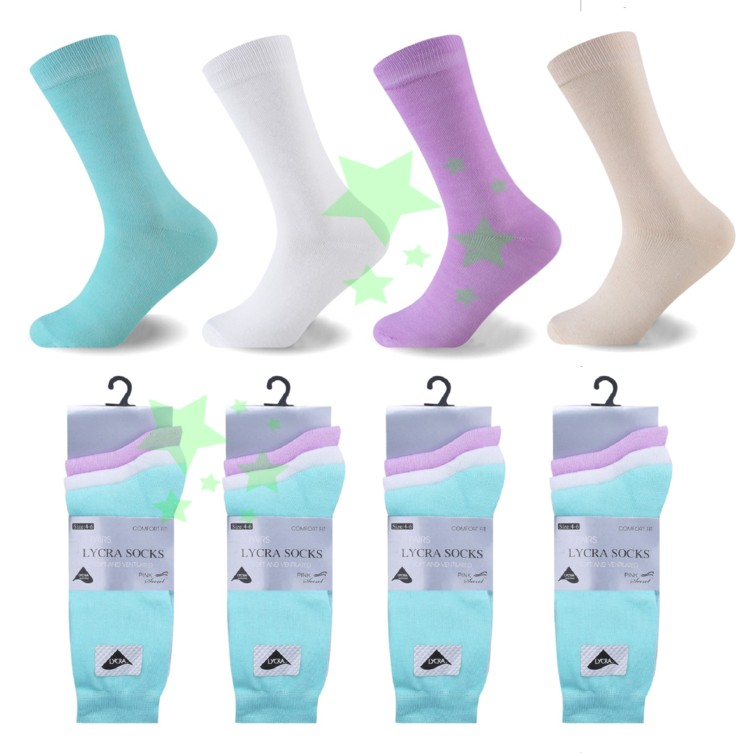 linenstar socks ladies-lycra-light-pastel