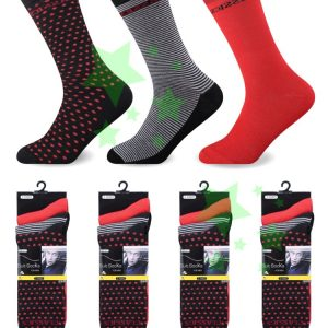 Linenstar men-suit-socks-Dot-Stripes