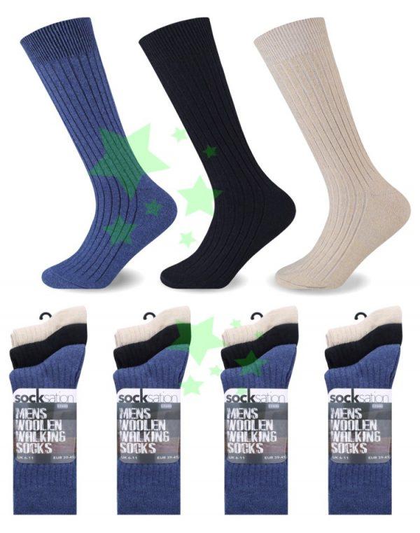 linenstar men-woolen-walking-socks