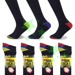 linenstar men-work-socks-colour-heal-toe