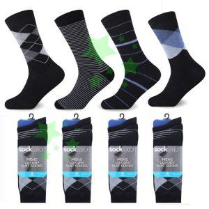 Linenstar mens-suit-socks-argyle-stripes
