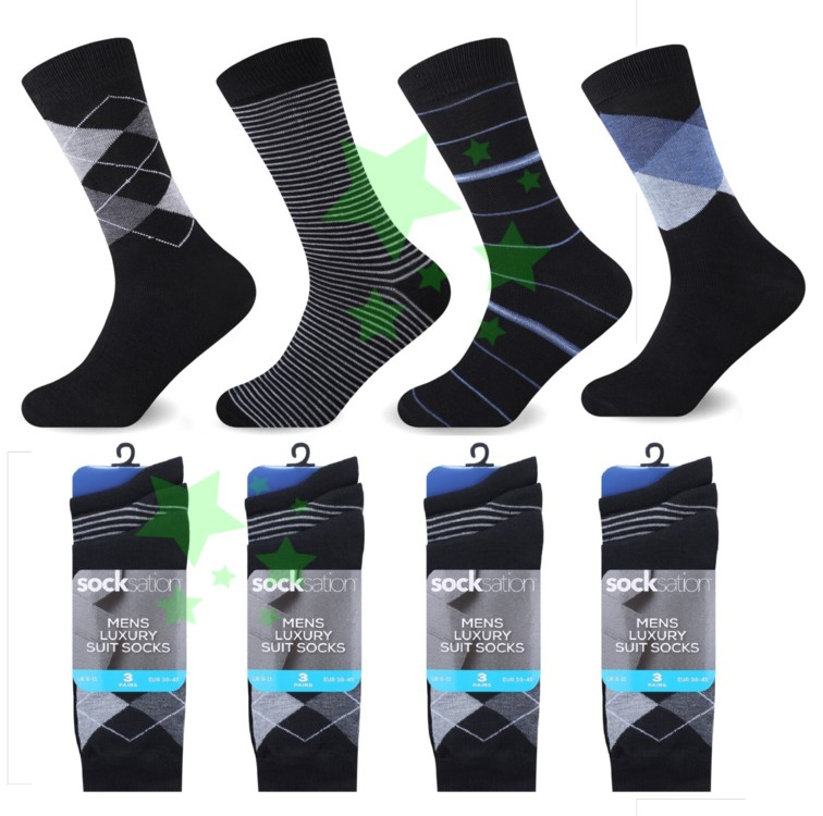 Linenstar mens-suit-socks-argyle-stripes