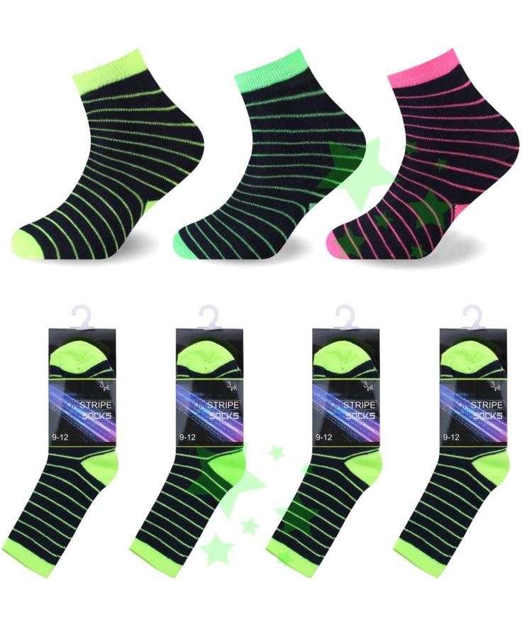 linenstar boys-neon-stripe-pink-green