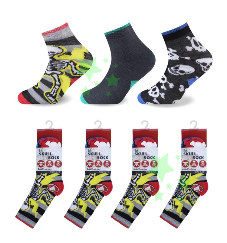 linenstar boys-skull-socks