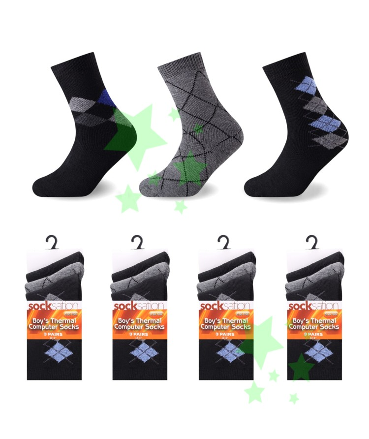linenstar socks boys-thermal-argyl