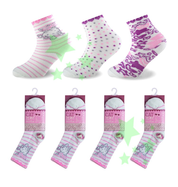 linenstar girls-cat-love-socks