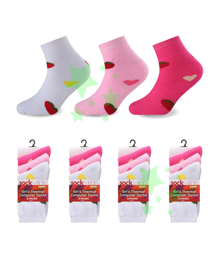 linenstar girls-thermal-heart-socks
