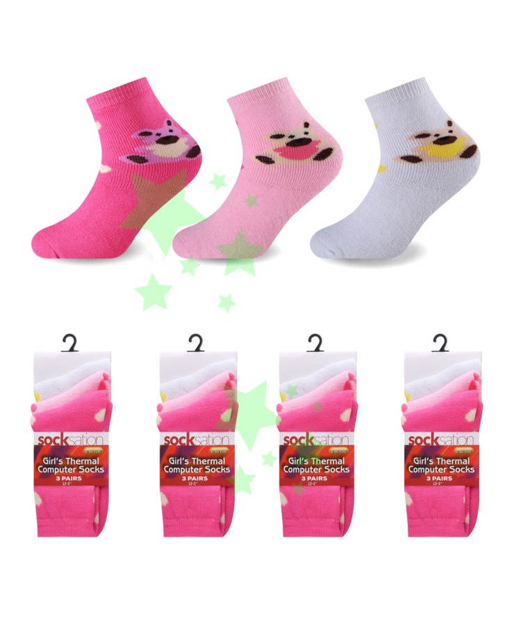 linenstar girls-thermal-teddy-socks