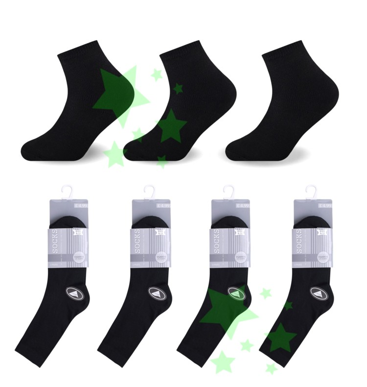 linenstar kids-black-socks