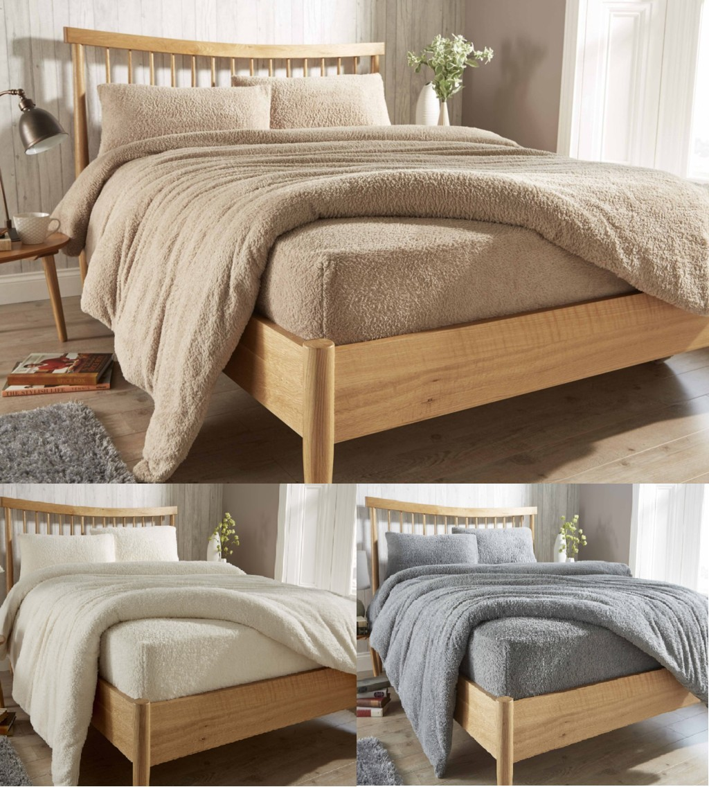 Teddy Fleece Extra Deep Fitted Sheets Cozy Warm Bed Linen